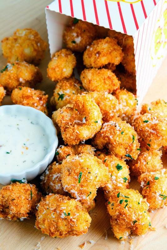 Crispy Parmesan Cauliflower Bites