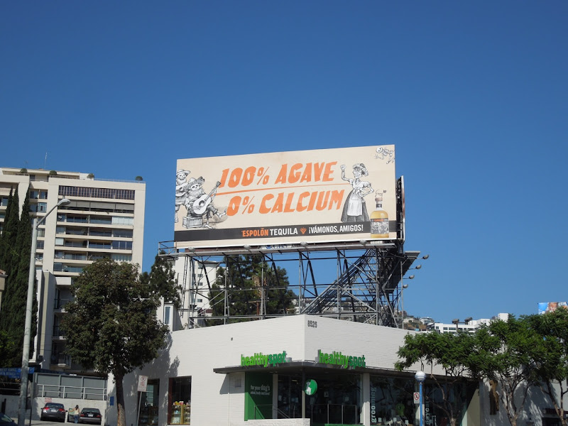 100 percent Agave Espolon Tequila billboard