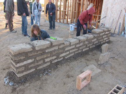 Mud for the people building an adobe garden wall root simple - How to build an adobe house ...
