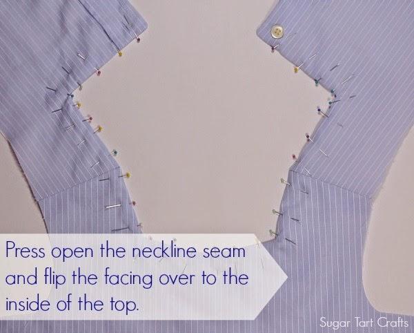 Tutorial for facing a neckline