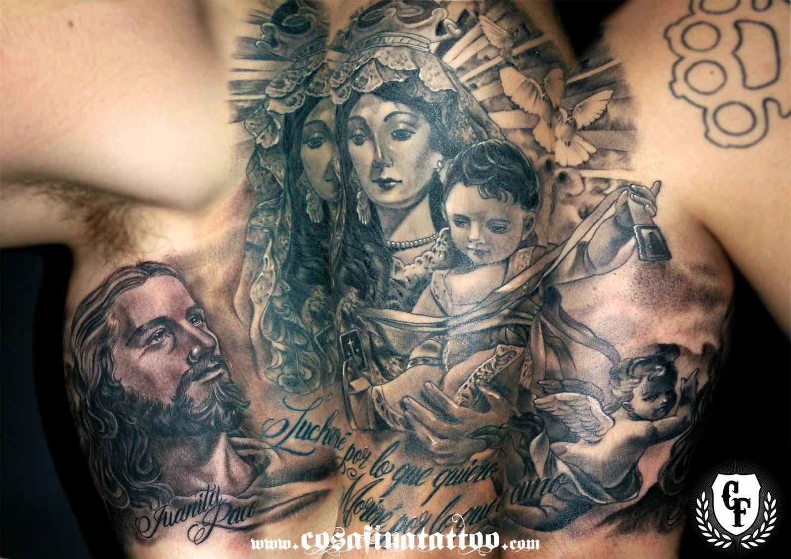 Tatuajes En El Brazo Sombras cosafina tattoo carlos art studio: tatuaje realista brazo religioso