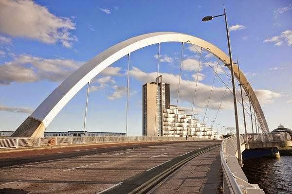 Arched Bridge Clyde Arc, Glasgow