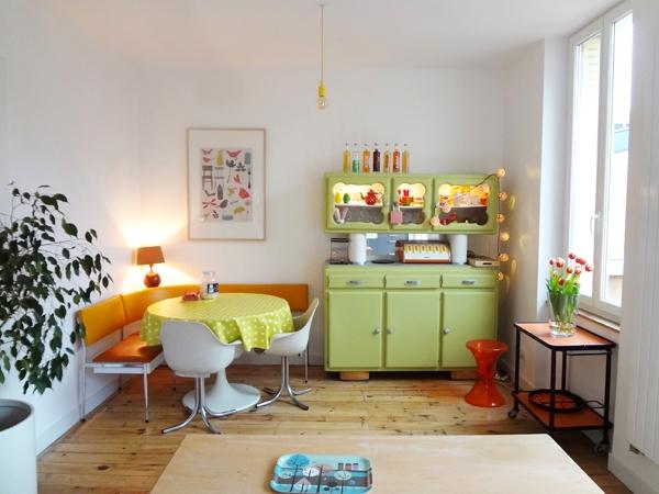 Die-Wohngalerie: 70er Jahre Küche revisited nach Flohmarkt-Rausch!