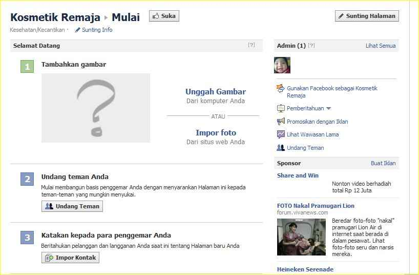 cara membuat facebook fan page di blogspot
