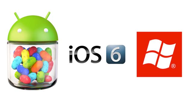 Microsoft Windows 8 Vs Apple iOS 6 Vs Google Android Jelly 4.1 Bean Comparison
