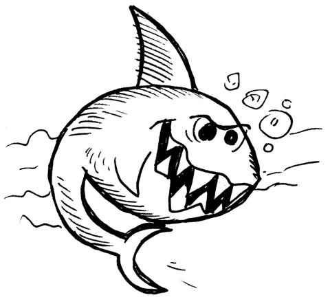 Comment dessiner un requin dessein de dessin - Requin en dessin ...