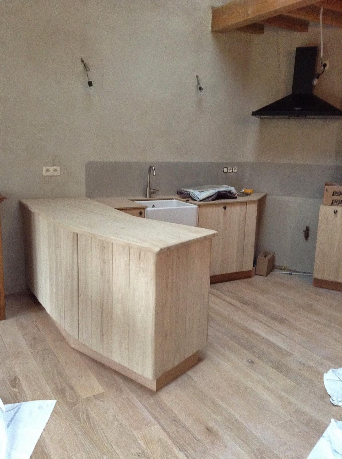 kastanje keuken kast door schrijnwerker François Bosch uit Lier