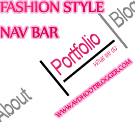 Fashion Style Navigation Menu Bar Widget For Blogger