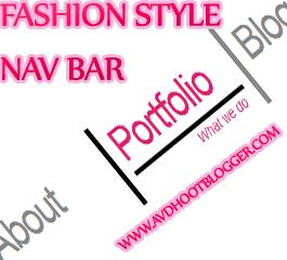 Fashion Style Navigation Menu Bar Widget For Blogger
