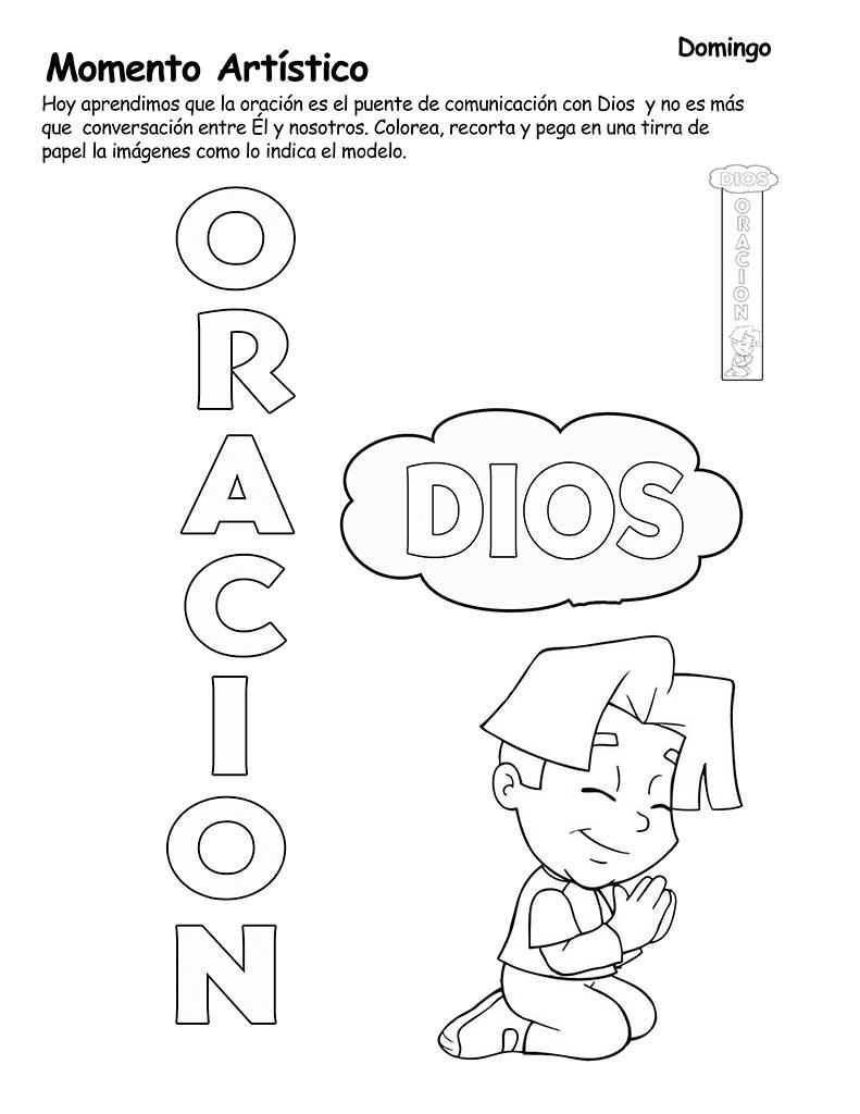 Famoso Páginas Para Colorear Sobre La Oración Componente - Dibujos ...