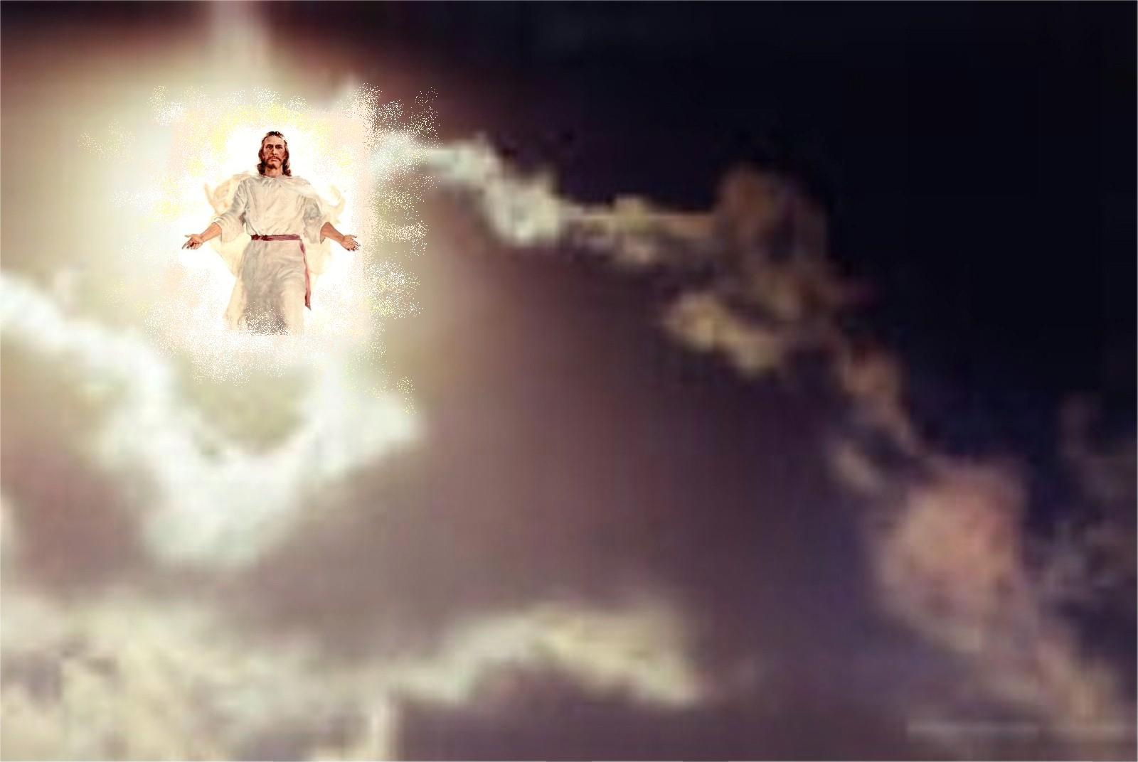 Bildergebnis für jesus appearing in the clouds images