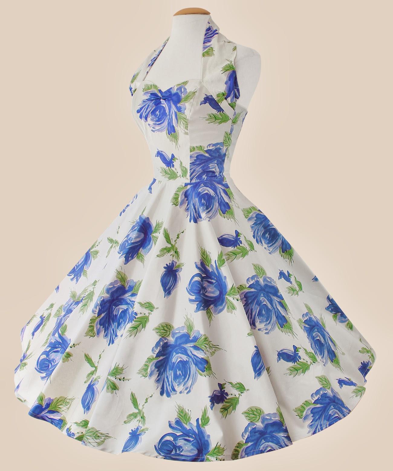 50's Halter Neck Floral Dress - £89 - Vivien of Holloway