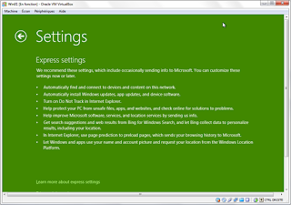 Install settings Windows 8 (Green)