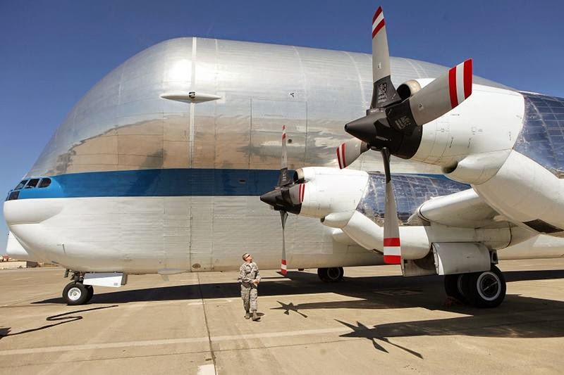 NASA's B-377-SG/SGT-4 Super Guppy arrived at Tinker in April 3, 2008 for a programmed depot maintenance-like inspection. Yet, when inspectors examined the aircraft, they noticed significant corrosion and suggested the aircraft be refurbished.
