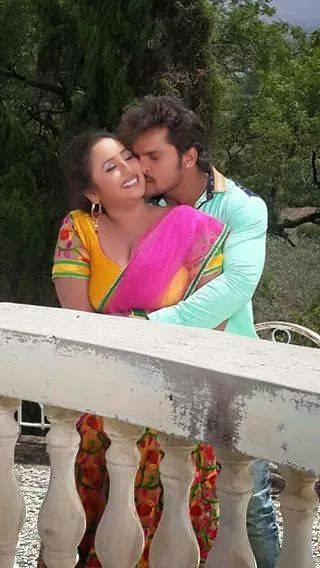 "Khesari Lal Yadav Romance with Rani Chatterjee Rani in Upcoming film ""Jaanam"""