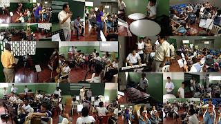 La Orquesta Sinfónica del INEM Cartafgena Co., ensaya todos los dias con la dirección del maestro edgar Avilán.
