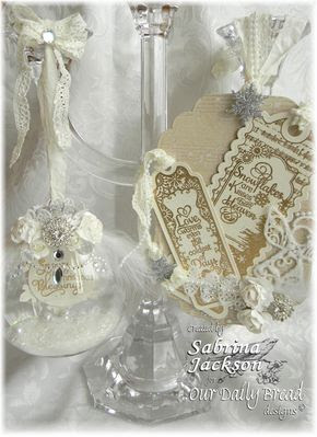 Our Daily Bread Designs Stamps - Bookmarks - Snowflakes, Snowy Blessings, Snowflake Sentiments, Bookmark Dies