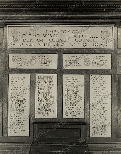 War Memorial at Shire Hall, the previous County Council headquarters (CC/X 110c)