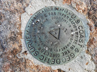 Moxham Mountain summit marker.  The Saratoga Skier and Hiker, first-hand accounts of adventures in the Adirondacks and beyond, and Gore Mountain ski blog.