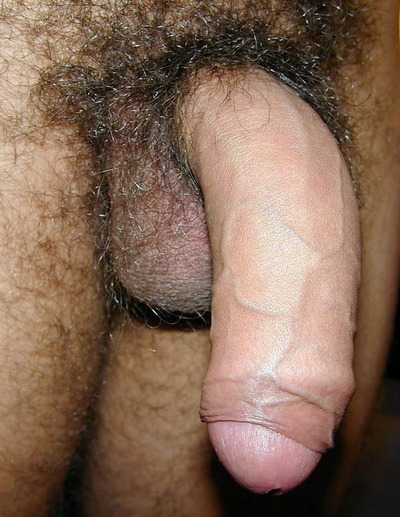 Hairy cock close up