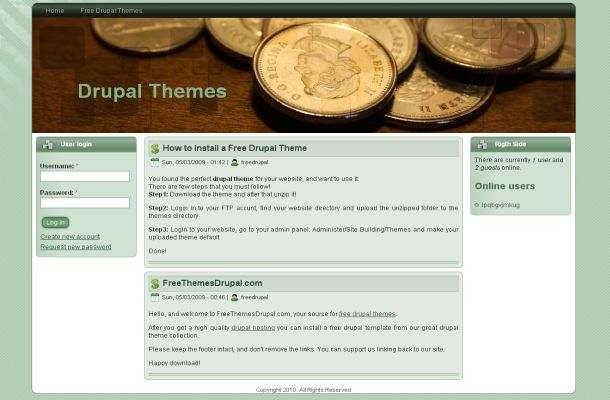 Free Drupal Finance Business Green Theme Template