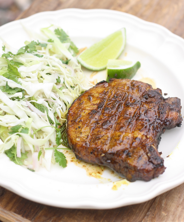 Vietnamese Grilled Pork Chop recipe by SeasonWithSpice.com