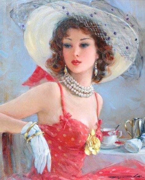 Russian Paintings Of Women Konstantin Razu...