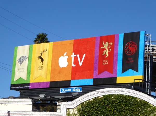 Game of Thrones Apple TV billboard