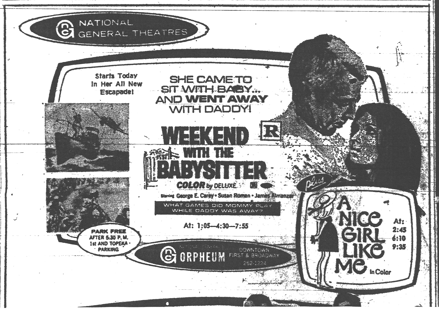 happyotter weekend the babysitter  weekend the babysitter 1970