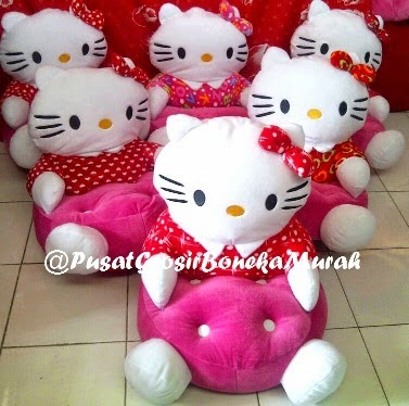 SOFA BONEKA KITTY POLCADOT - PUSAT GROSIR SOFA