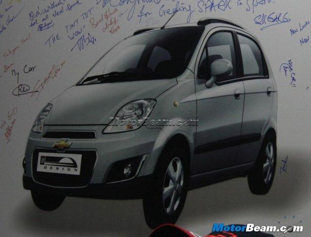 Chevrolet Spark Facelift - Upcoming Car On Diwali