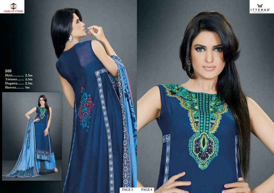 EmbroideredSwissVoileSpringSummercollection2013 2 - Ittehad Lawn Embroidered