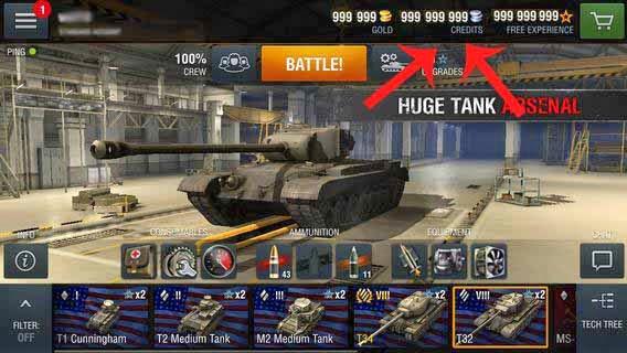 скачать мод на world of tanks на золото
