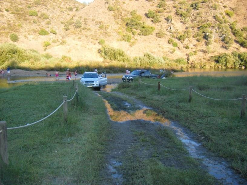 Entrada dos carros para o rio Guadiana