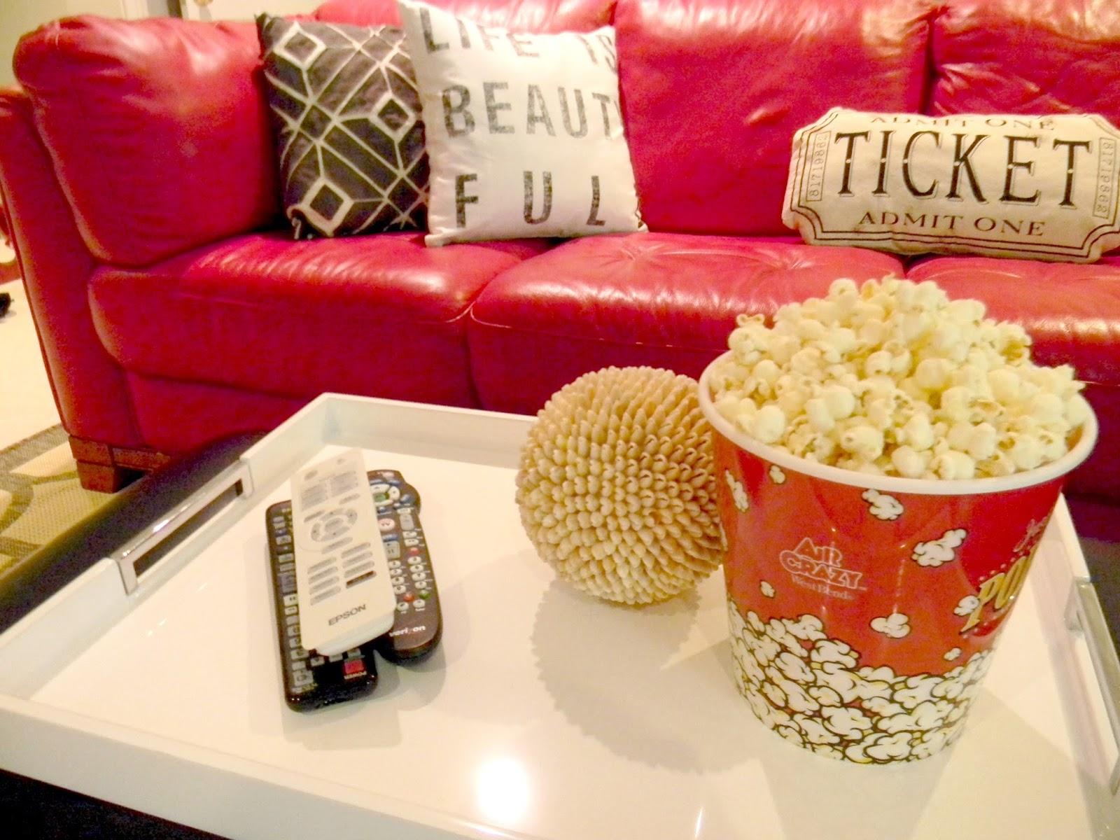 Seaside Interiors Movie Theater Themed Basement Installed