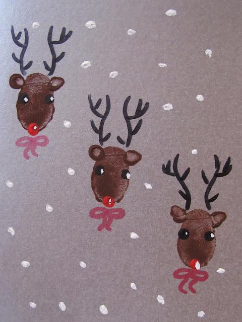 card with deer