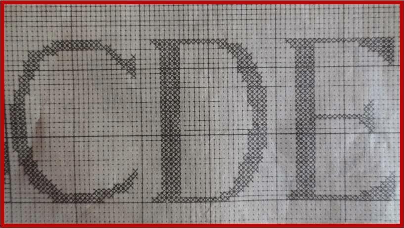 Fashion y Fácil : Letras punto de red a ganchillo y punto cruz ...