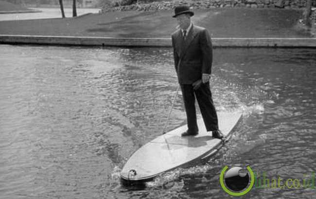 Motorized Surfboard, 1949