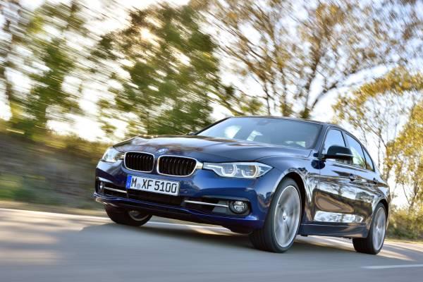BMW新型3シリーズのスポーツラインフロント画像
