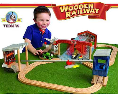 Kids wood model toy Percy the train Diesel 10 Thomas the tank engine Wooden Railway Diesel Works Set