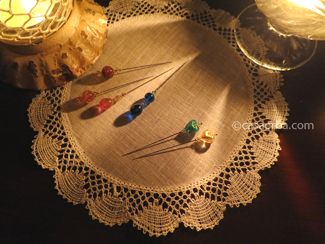 Bobbin Lace -Doily and Decoration Pin