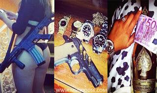 Fotos de ostentação dos traficantes no Instagram