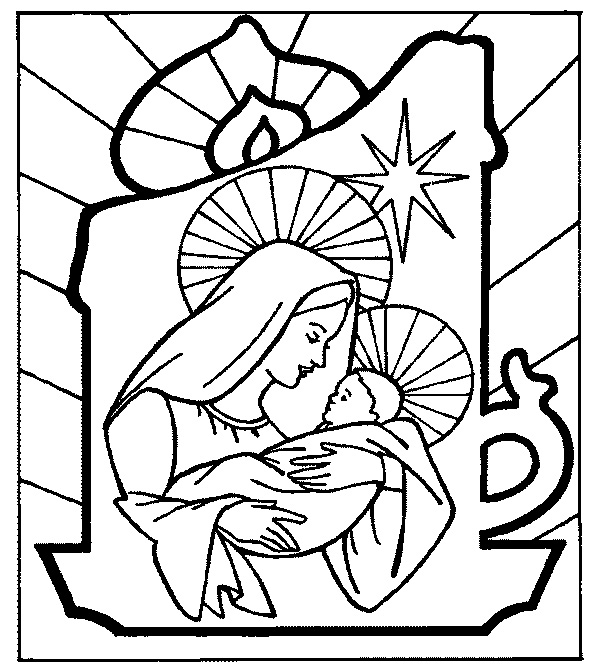 Religious Christmas Coloring Sheets | Religious Coloring Pictures