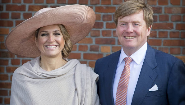 King Willem-Alexander of The Netherlands and Queen Maxima of The Netherlands visited the Zeeland Vlaanderen region