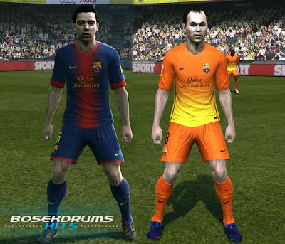 Preview PES 2012: Uniforme do Barcelona 12/13