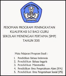 Mekanisme Pencairan Dana Bantuan Beasiswa S2 Bagi Guru SMP Tahun2015