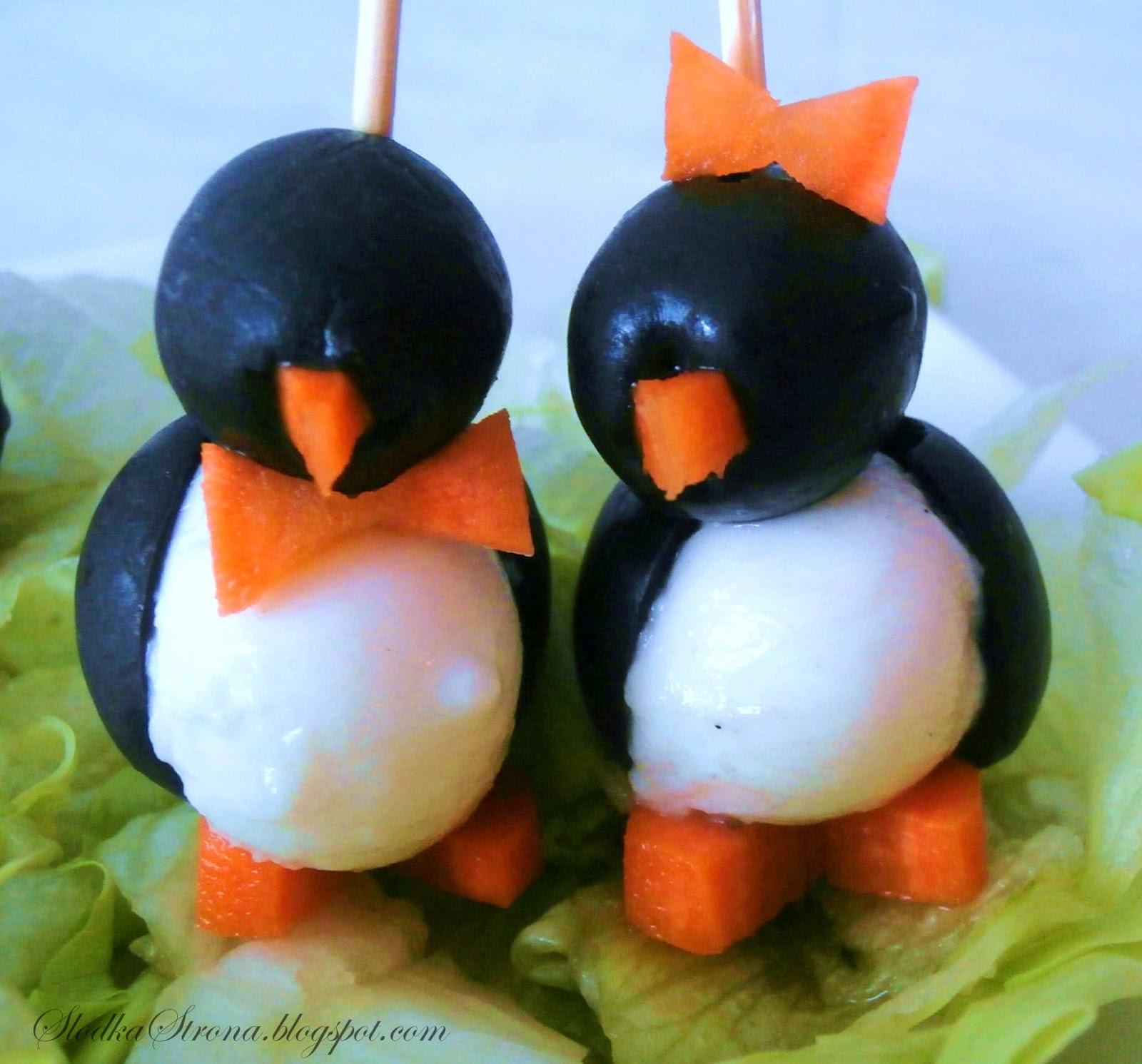 Pingwinki z Mozzarelli i Oliwek
