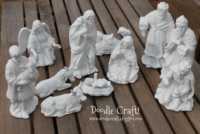 Doodlecraft: Wooden Silhouette Vinyl Nativity Set!