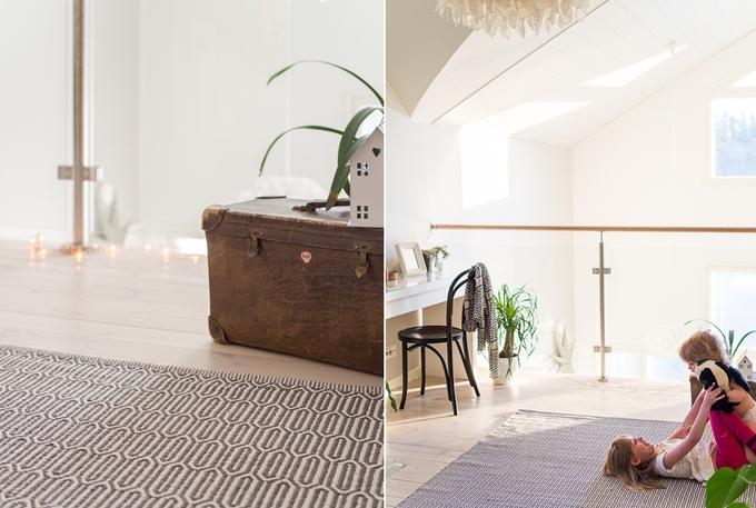 iso matto harmaa valkoinen svanefors, loviisan aitta iso olohuoneen matto
