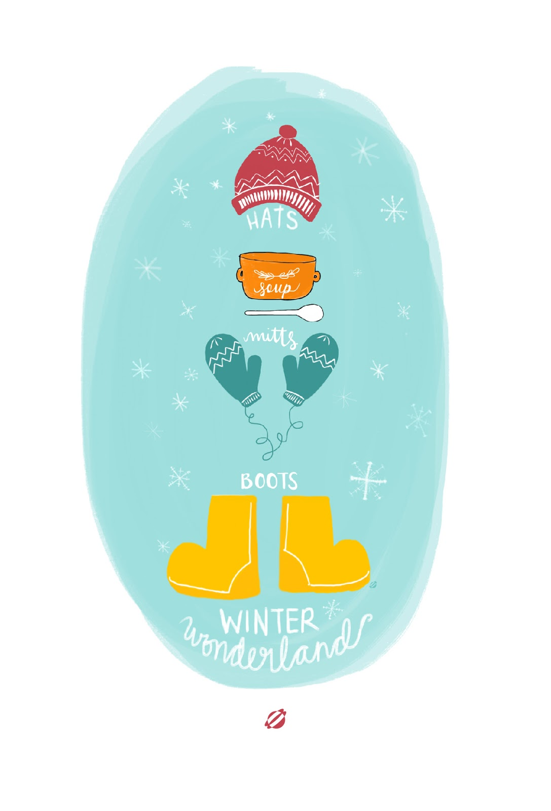 LostBumblebee ©2014 MDBN - Winter Wonderland : Hats, Soup, Mitts, Boots! Free Printable : PERSONAL USE ONLY